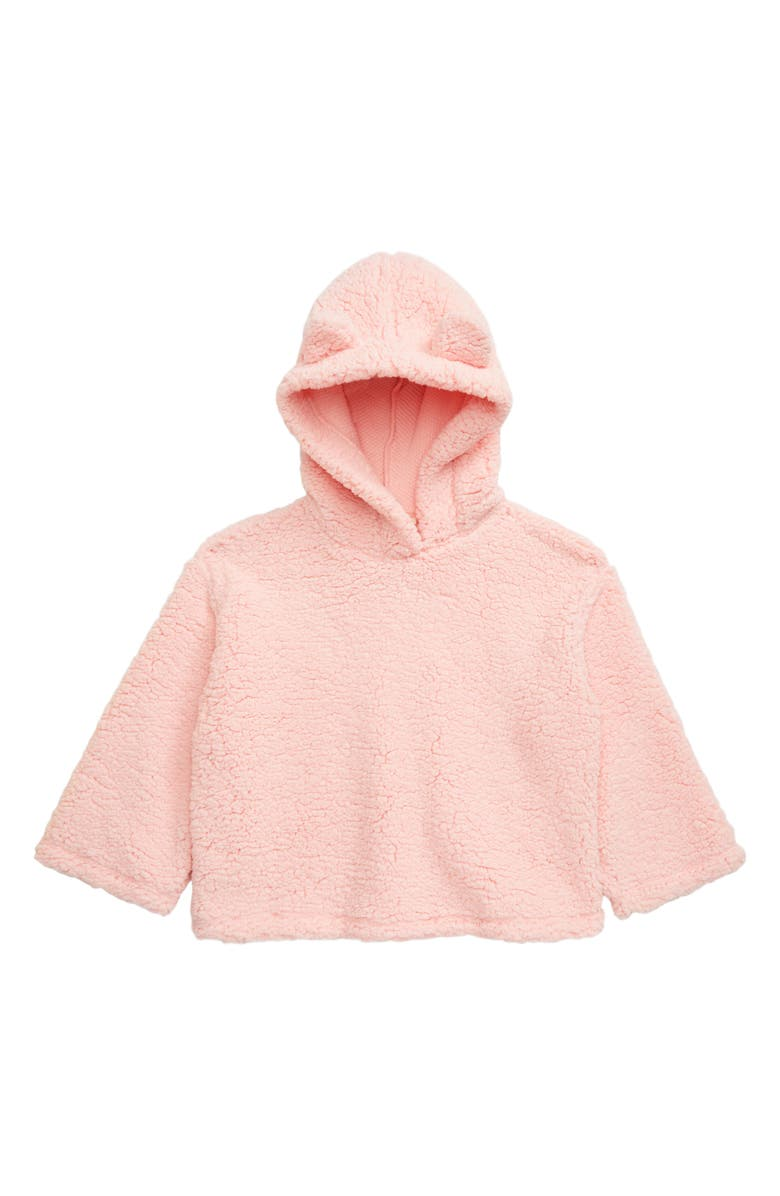 TUCKER + TATE Faux Shearling Hoodie, Main, color, PINK ENGLISH