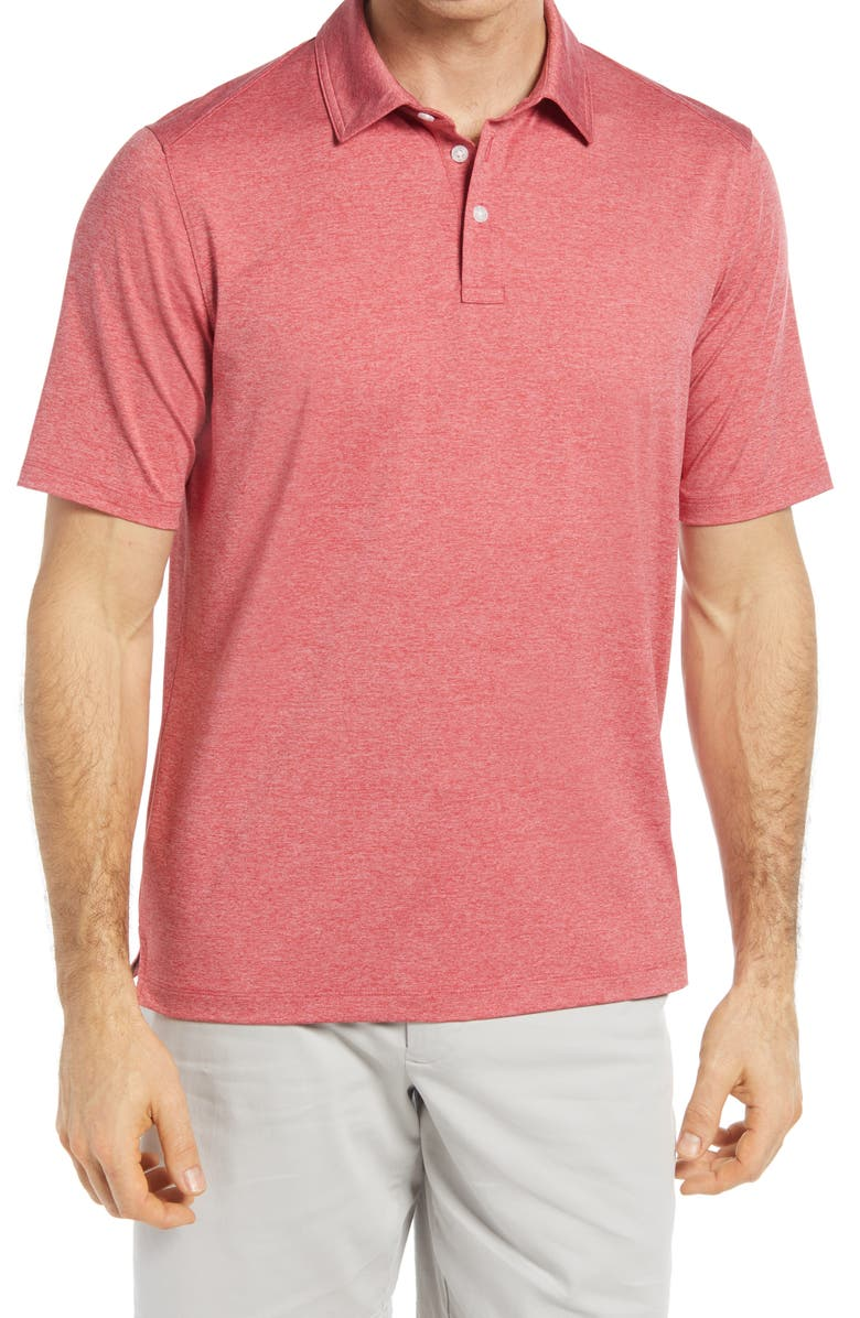JOHNSTON & MURPHY XC4 Performance Polo, Main, color, RED
