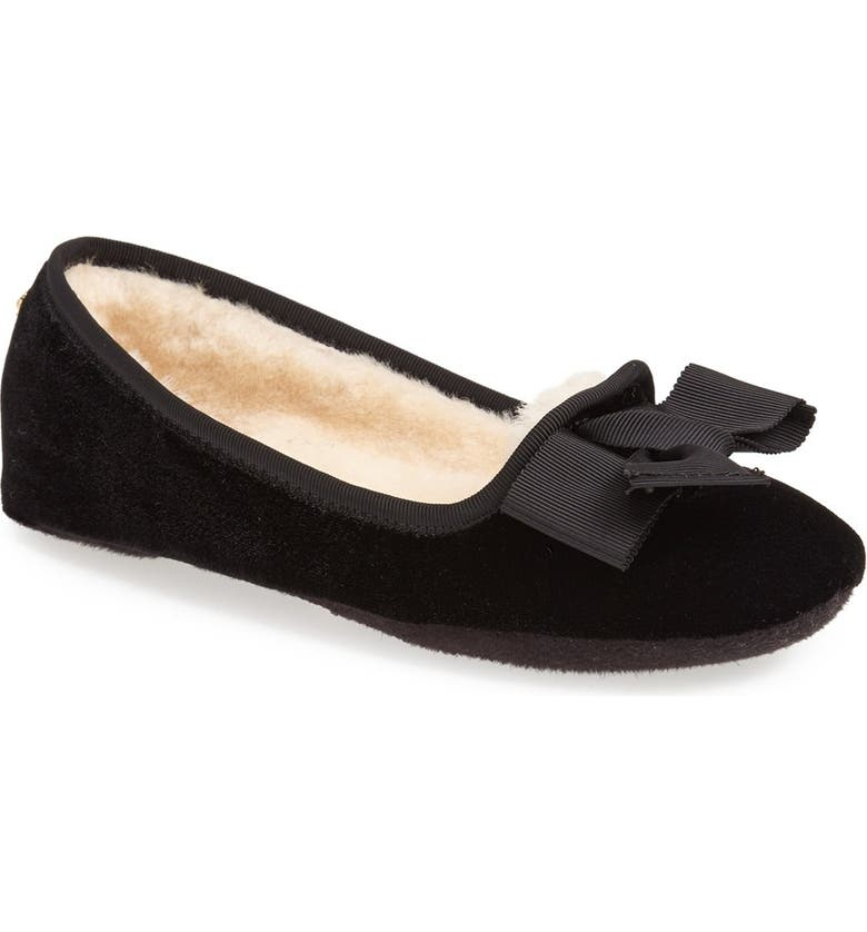 KATE SPADE NEW YORK 'sabine' velvet flat, Main, color, 001