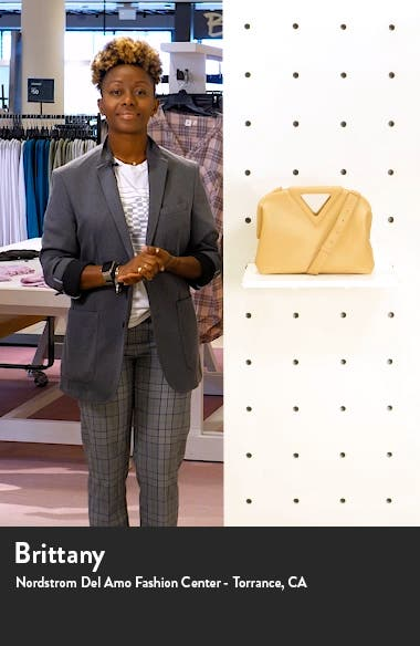 The Triangle Calfskin Leather Shoulder Bag, sales video thumbnail