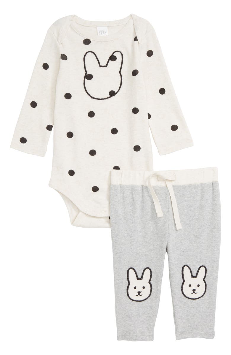 NORDSTROM BABY Bunny Bodysuit & Pants Set, Main, color, 900