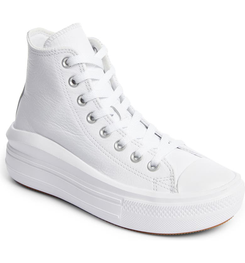CONVERSE Chuck Taylor<sup>®</sup> All Star<sup>®</sup> Move Platform High Top Sneaker, Main, color, WHITE/ WHITE/ WHITE