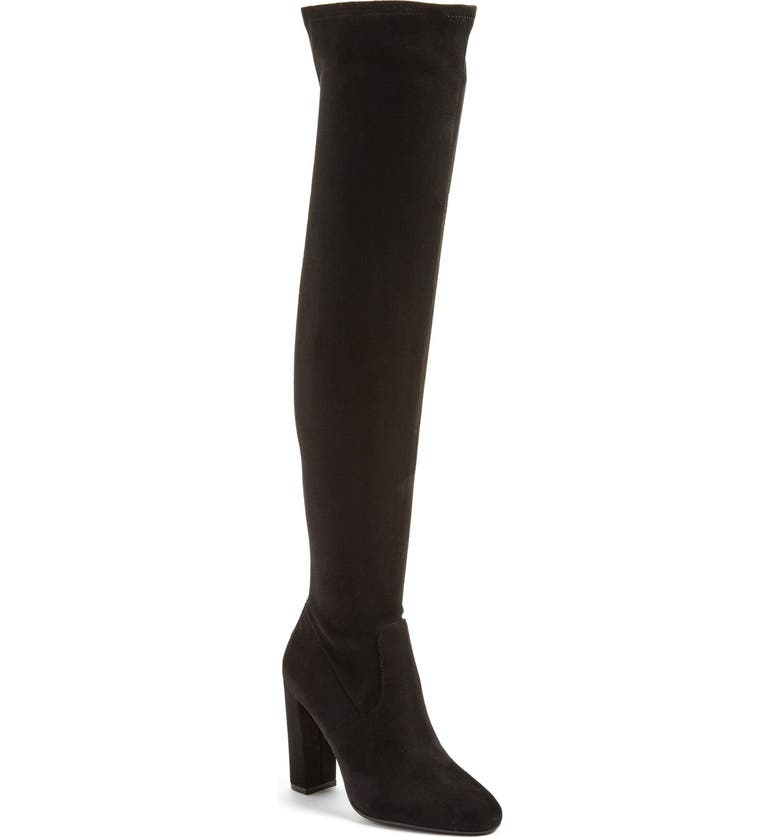STEVE MADDEN 'Emotions' Stretch Over the Knee Boot, Main, color, 001