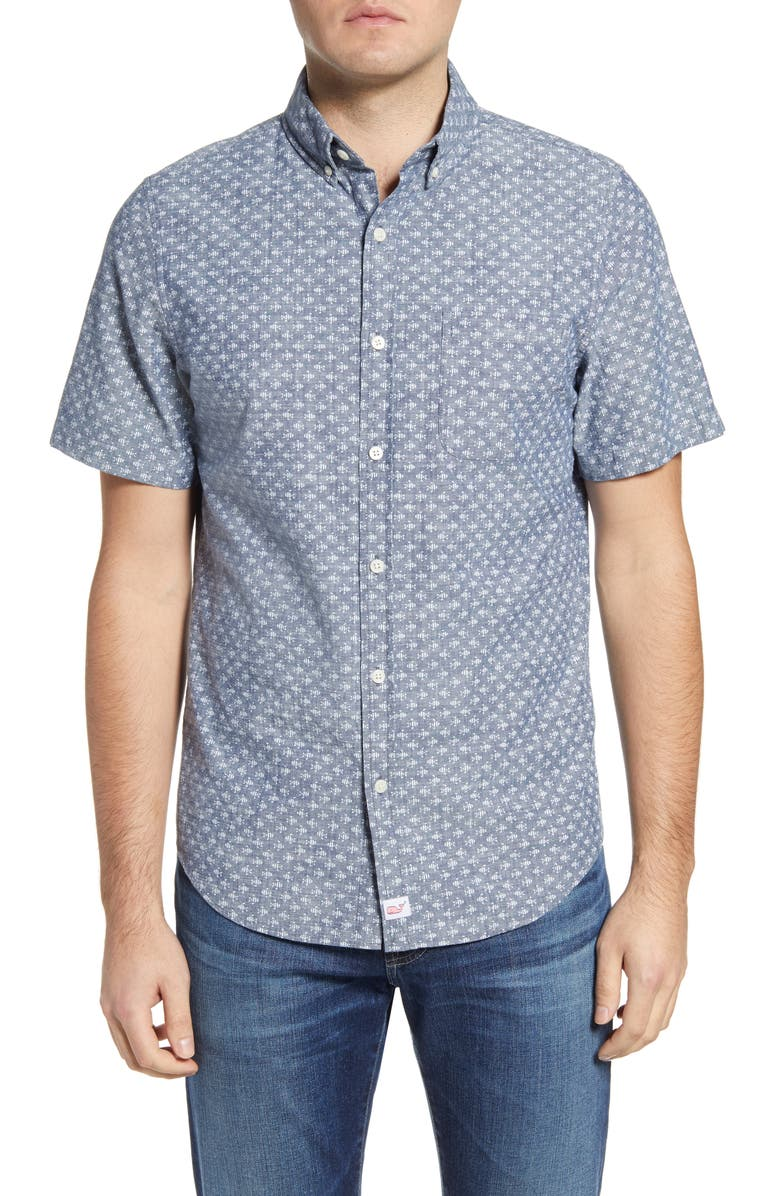 VINEYARD VINES Finn Murray Slim Fit Plaid Stretch Button-Down Shirt, Main, color, 023