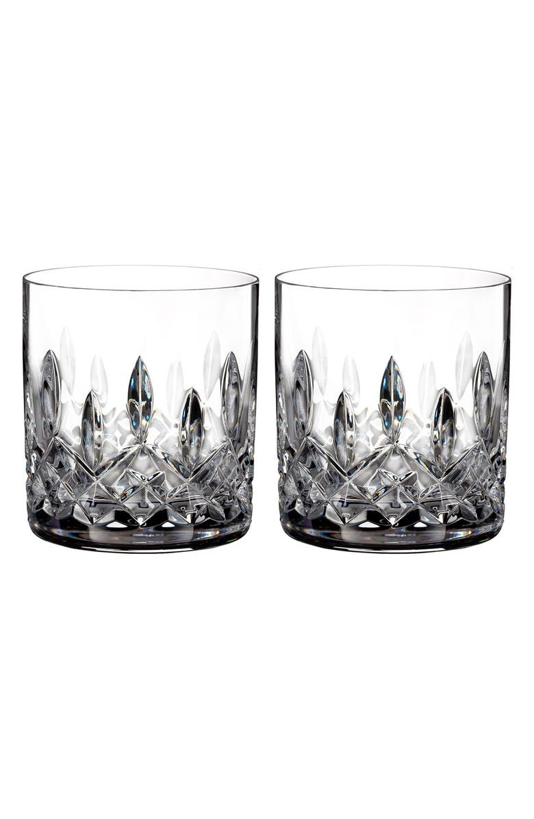 WATERFORD Lismore Connoisseur Set of 2 Lead Crystal Straight Sided Tumblers, Main, color, CLEAR