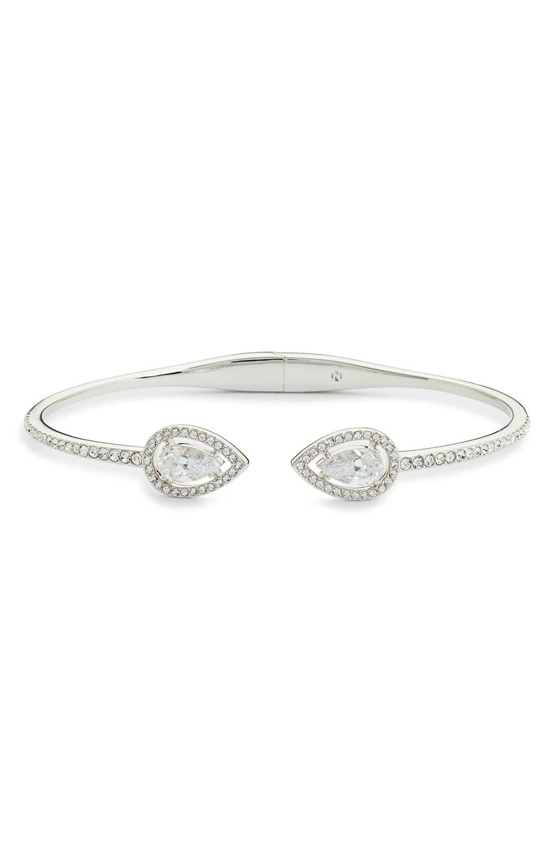 NADRI Pear Halo Hinge Bracelet, Main, color, 040