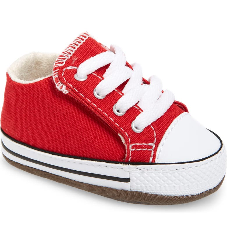CONVERSE Chuck Taylor<sup>®</sup> All Star<sup>®</sup> Cribster Canvas Crib Shoe, Main, color, UNIVERSITY RED/ NATURAL IVORY