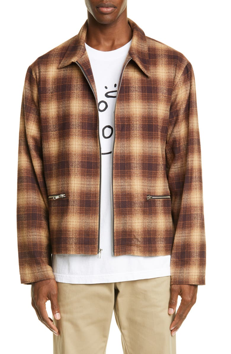 NOON GOONS Anderson Flannel Zip Jacket, Main, color, 200