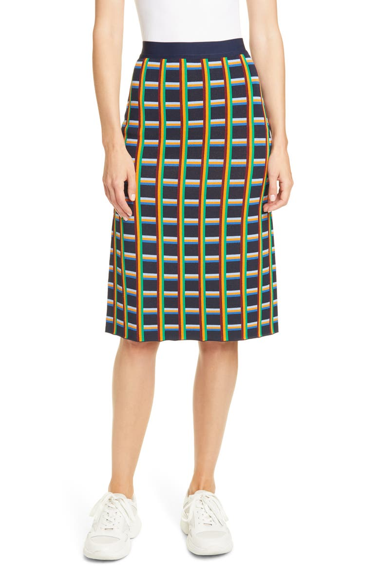 TORY SPORT BY TORY BURCH Tory Sport Circuit Plaid Knit Skirt, Main, color, 454