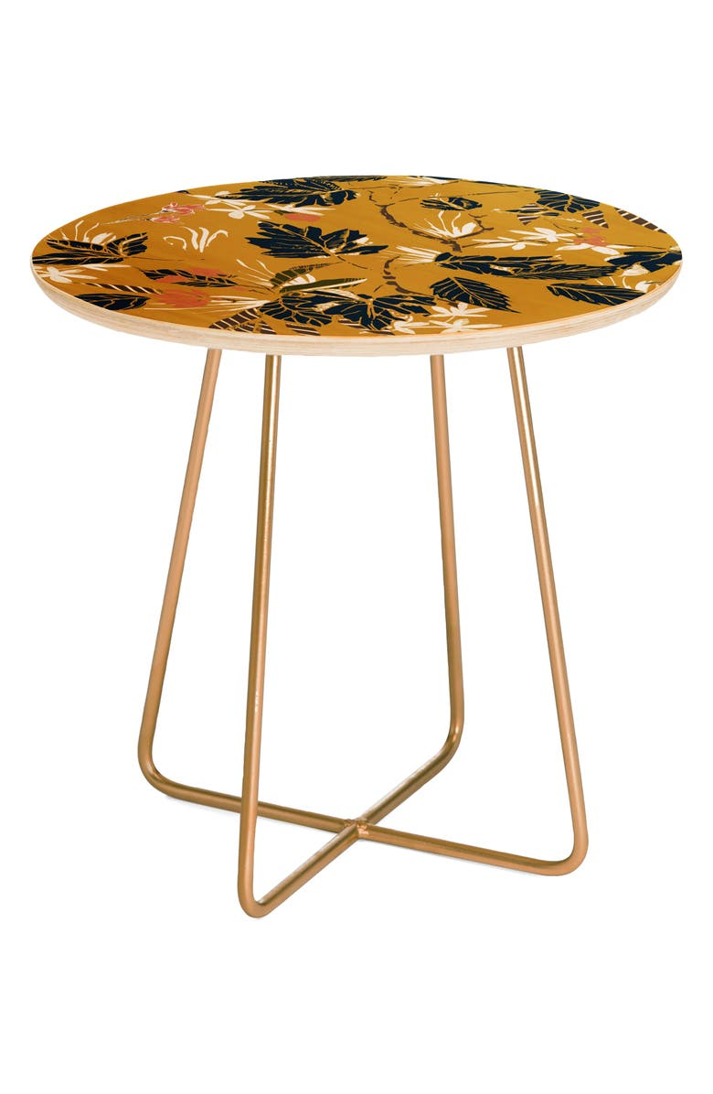DENY DESIGNS Autumnal Nature II Side Table, Main, color, BROWN