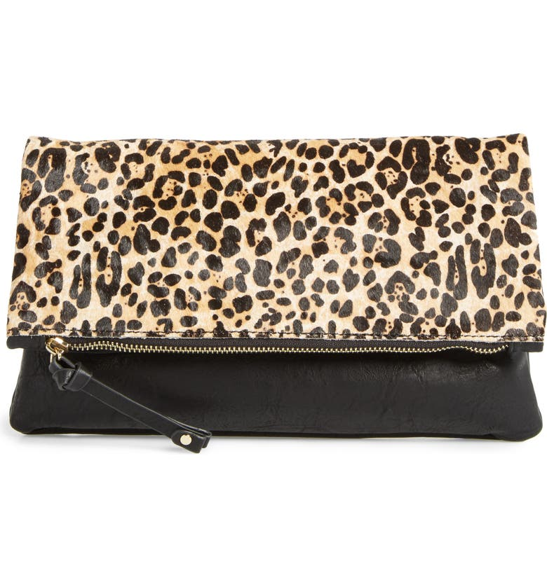 SOLE SOCIETY Marlena Faux Leather Foldover Clutch, Main, color, 200