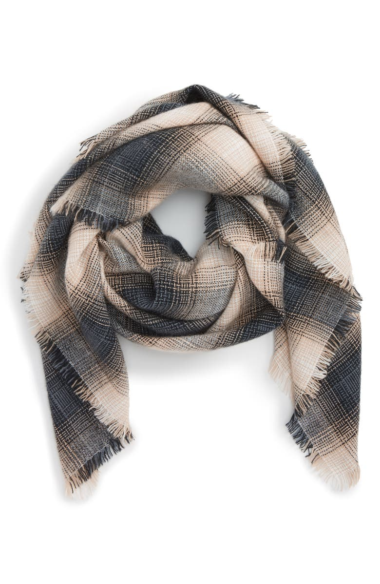 BP. Check Square Scarf, Main, color, 250