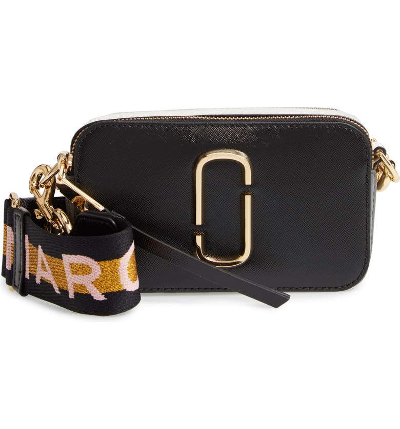 THE MARC JACOBS Snapshot Crossbody Bag, Main, color, NEW BLACK MULTI