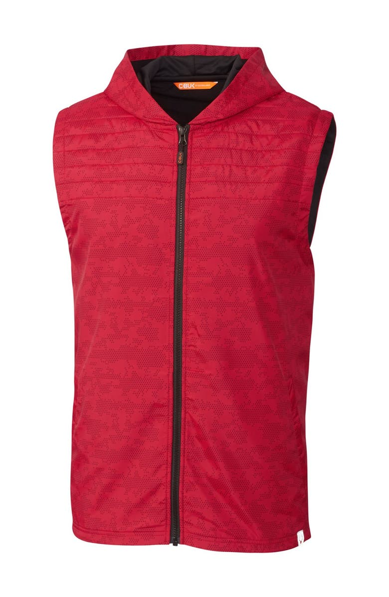 CUTTER AND BUCK Swish Printed Sport Vest, Main, color, RED