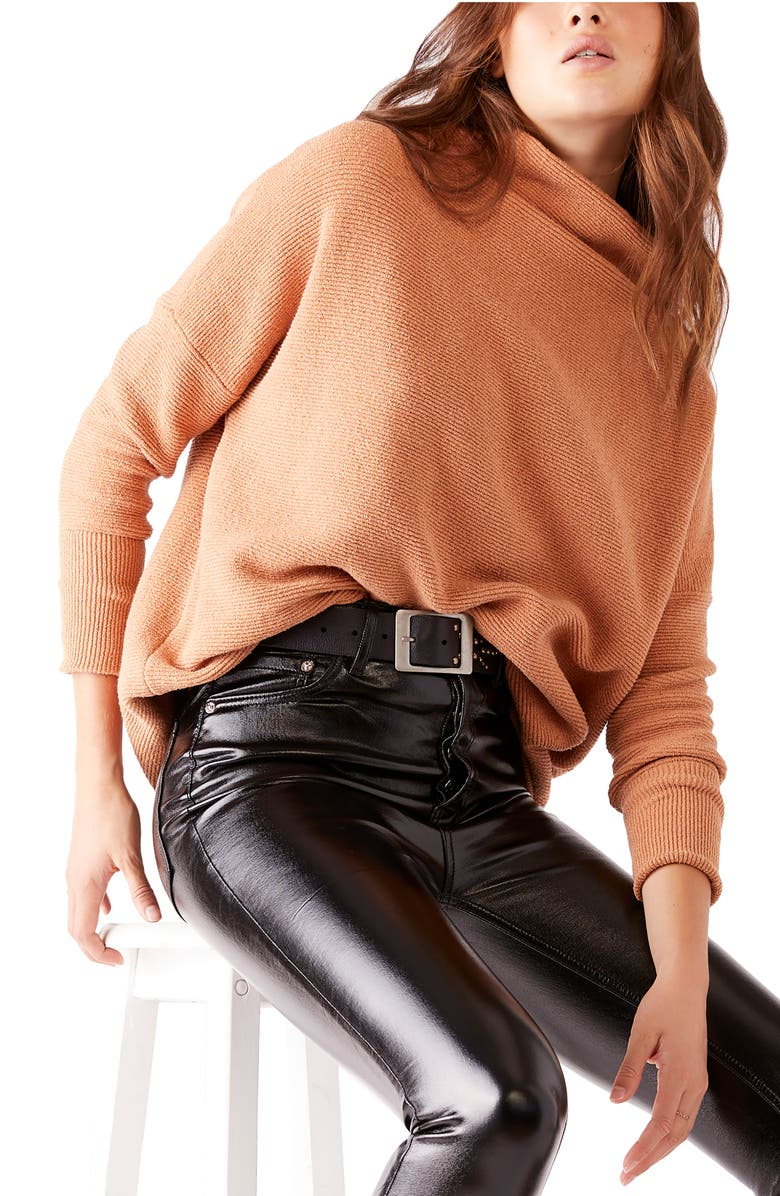 FREE PEOPLE Ottoman Slouchy Tunic, Main, color, APRICOT