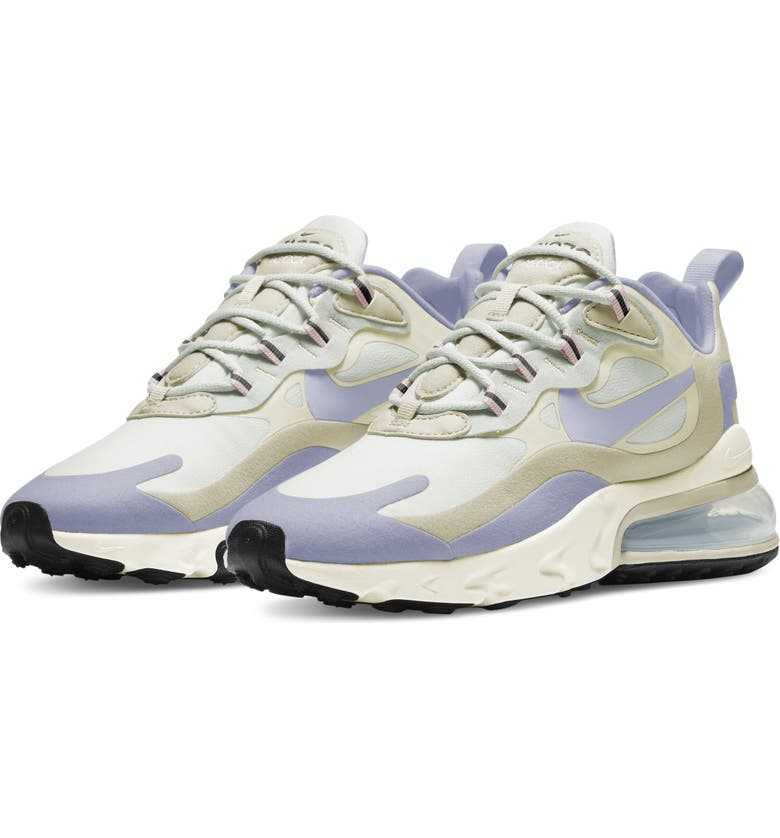 NIKE Air Max 270 React Sneaker, Main, color, SUMMIT WHITE/GHOST/ FOSSIL