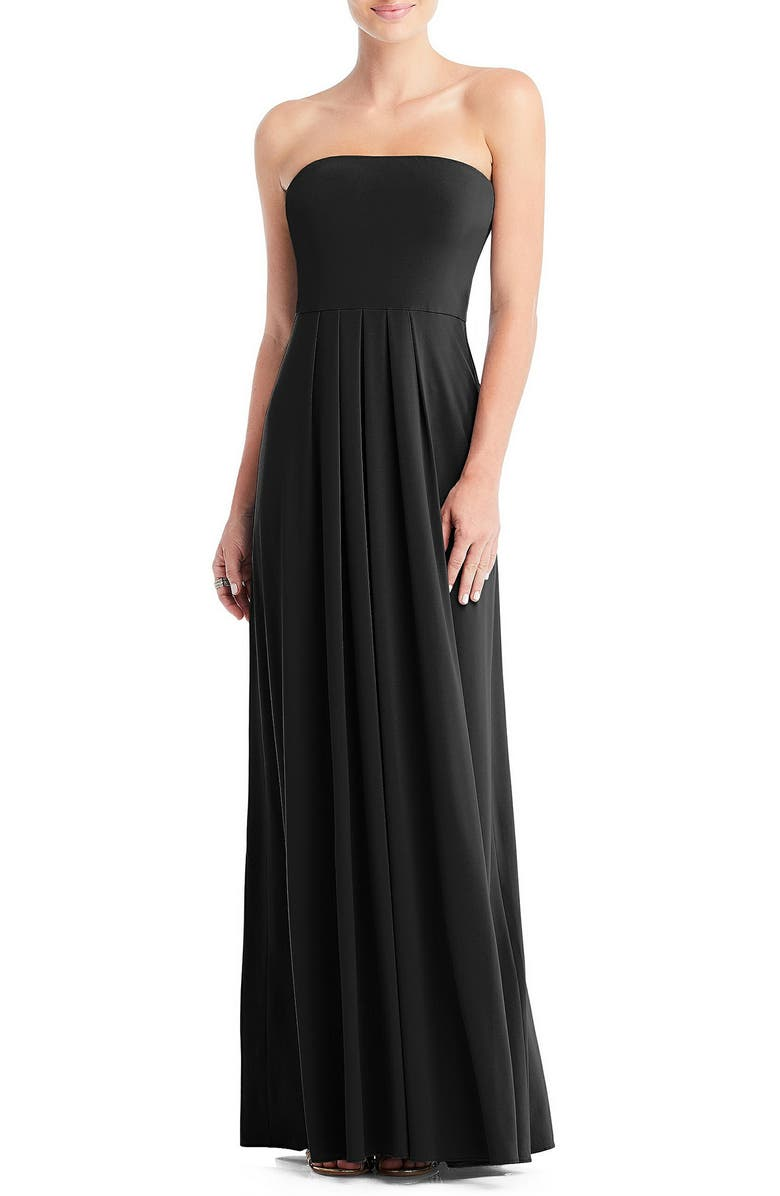 DESSY COLLECTION Multi-Way Loop A-Line Gown, Main, color, BLACK