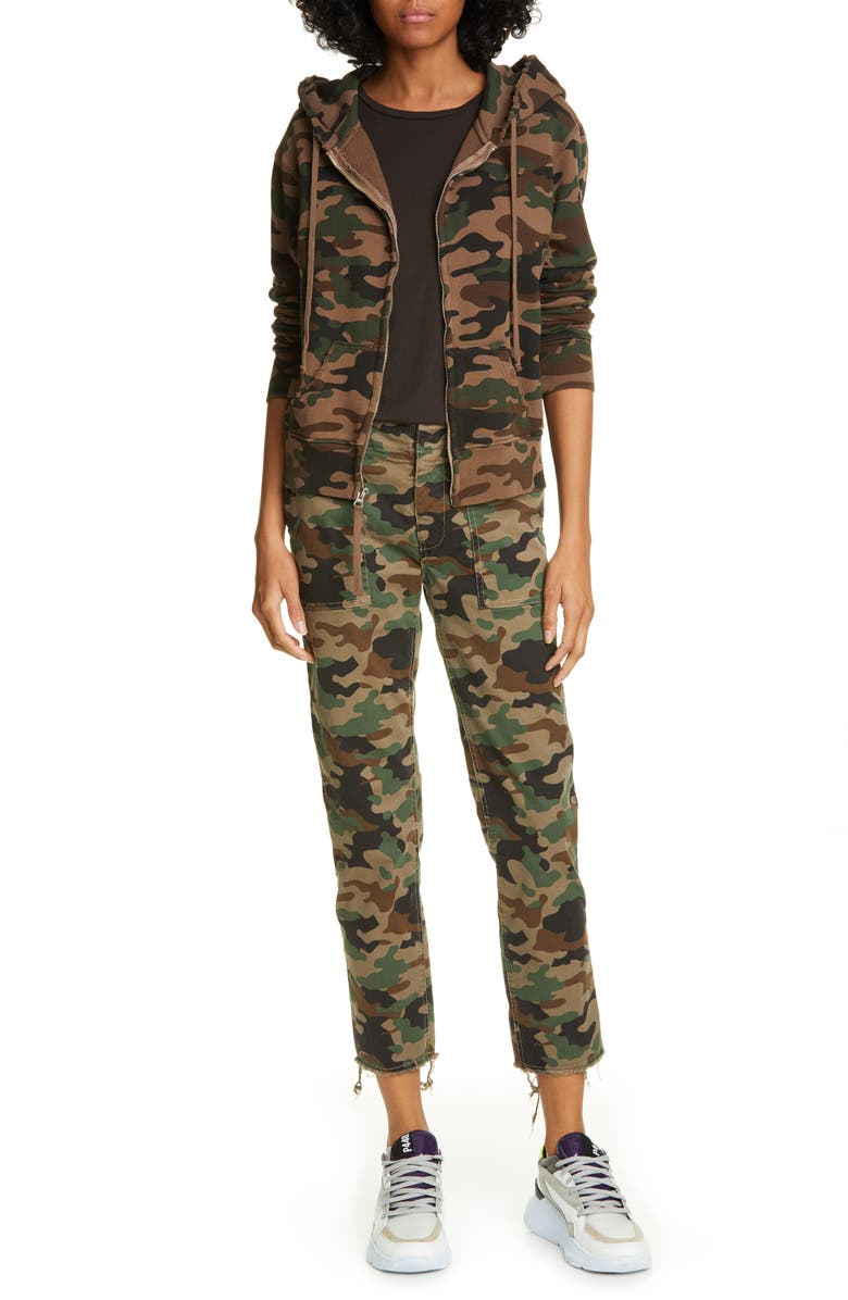 NILI LOTAN Jenna Camo Print Crop Pants, Main, color, 200