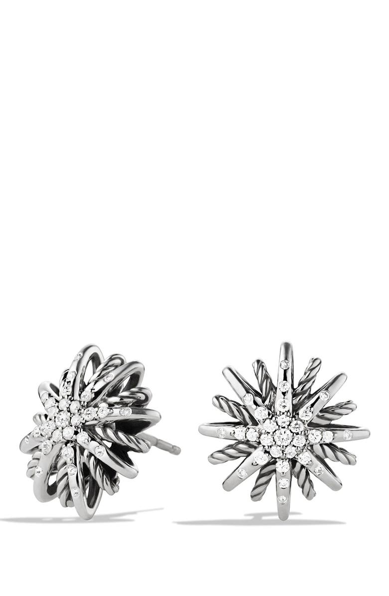 DAVID YURMAN Starburst Small Earrings with Diamonds, Main, color, DIAMOND