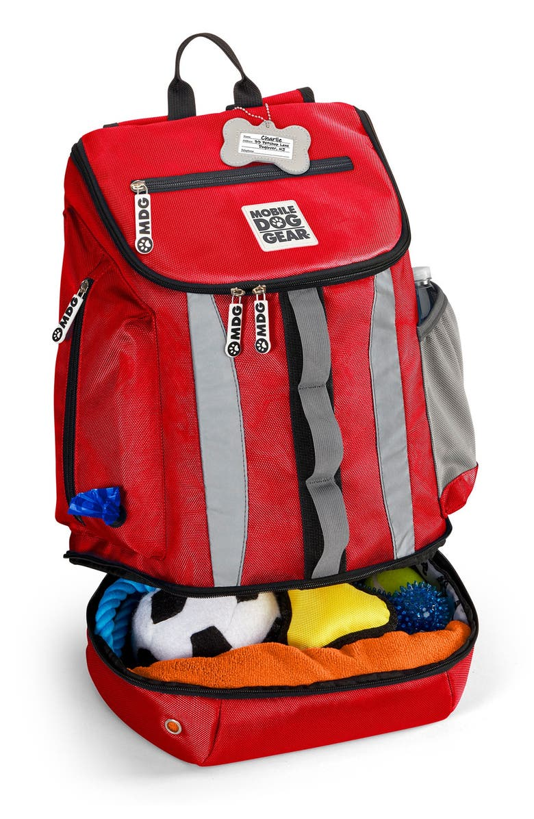 MOBILE DOG GEAR Drop Bottom Week Away(R) Backpack - Red, Main, color, RED