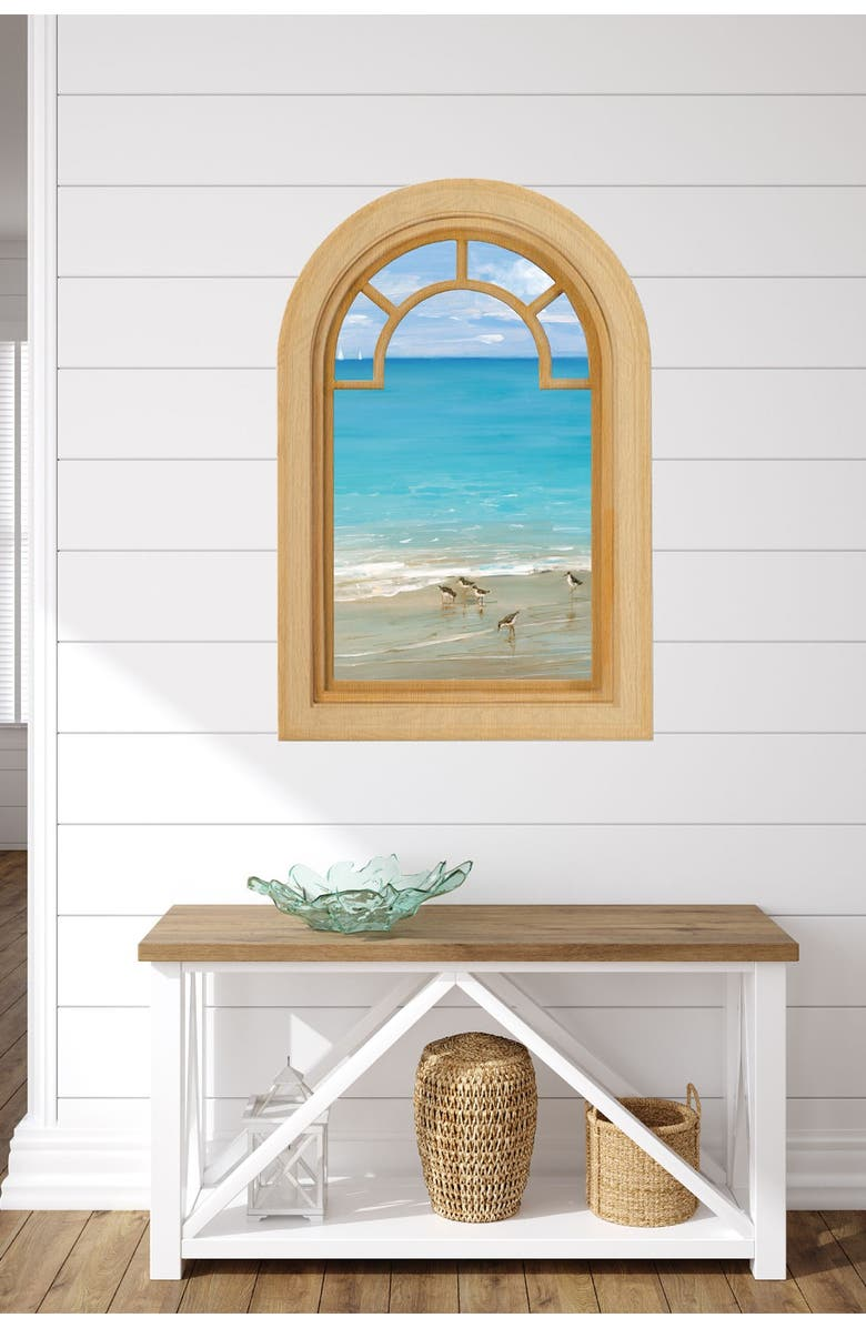"""COURTSIDE MARKET Sunday At the Shore 24"""" x 36"""" Gallery Art Decal, Main, color, MULTI COLOR"""