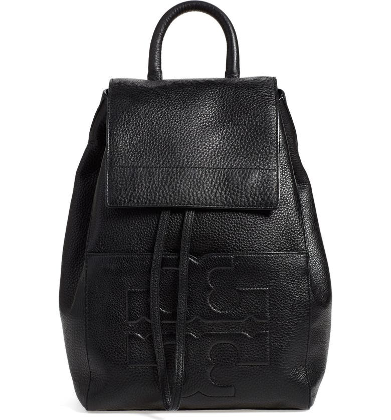 TORY BURCH 'Bombe T' Leather Backpack, Main, color, 002