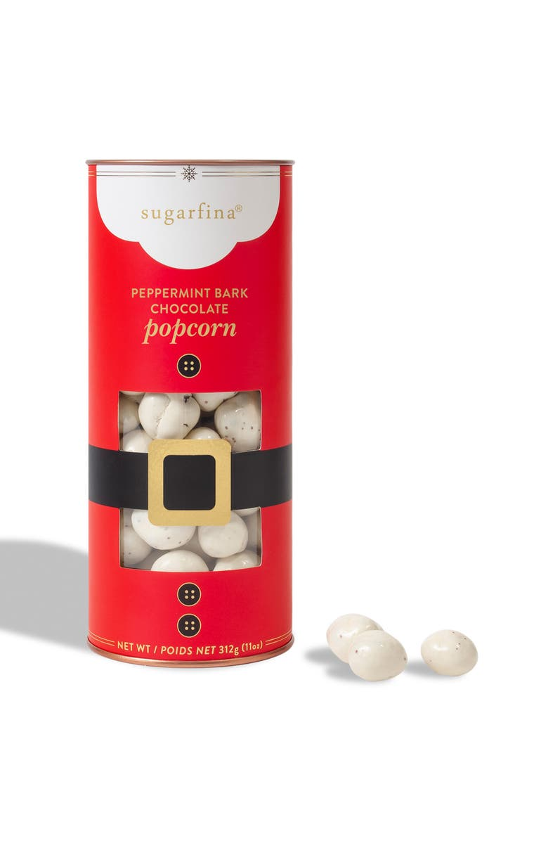 SUGARFINA Peppermint Bark White Chocolate Popcorn Canister, Main, color, 600