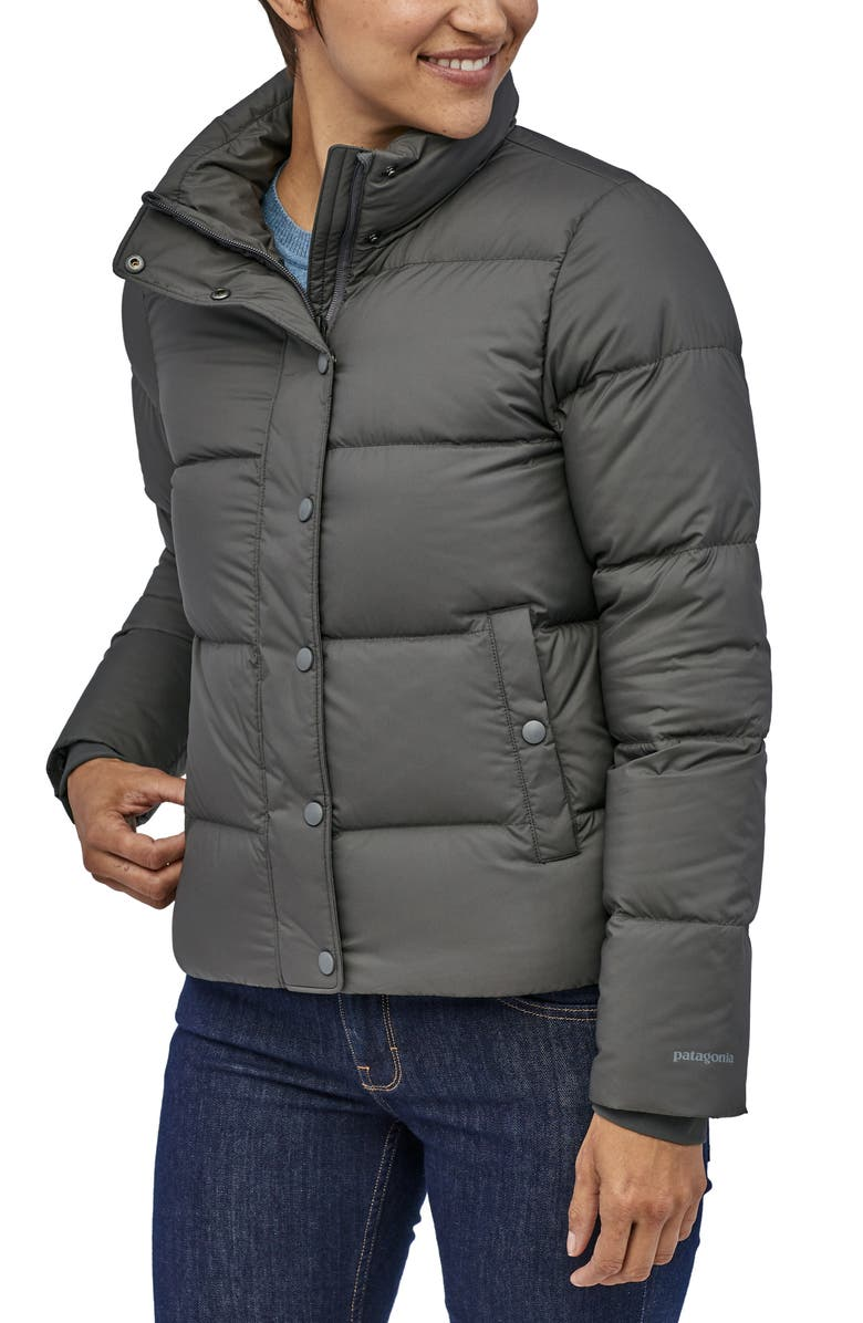 PATAGONIA Silent Water Repellent 700-Fill Power Down Insulated Jacket, Main, color, FORGE GREY