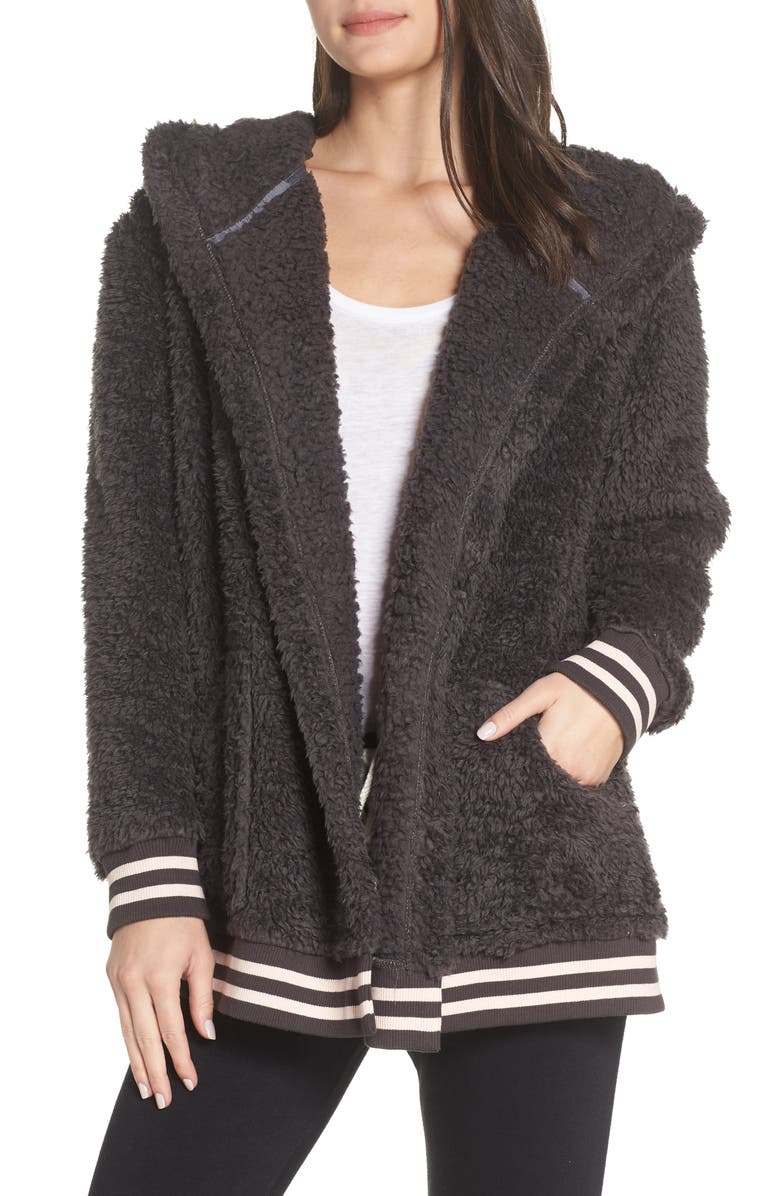 MAKE + MODEL Oh So Cozy Open Hoodie, Main, color, 021