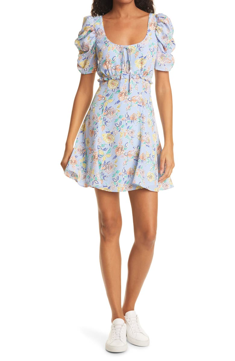 LIKELY Lana Floral Dress, Main, color, PERIWINKLE MULTI
