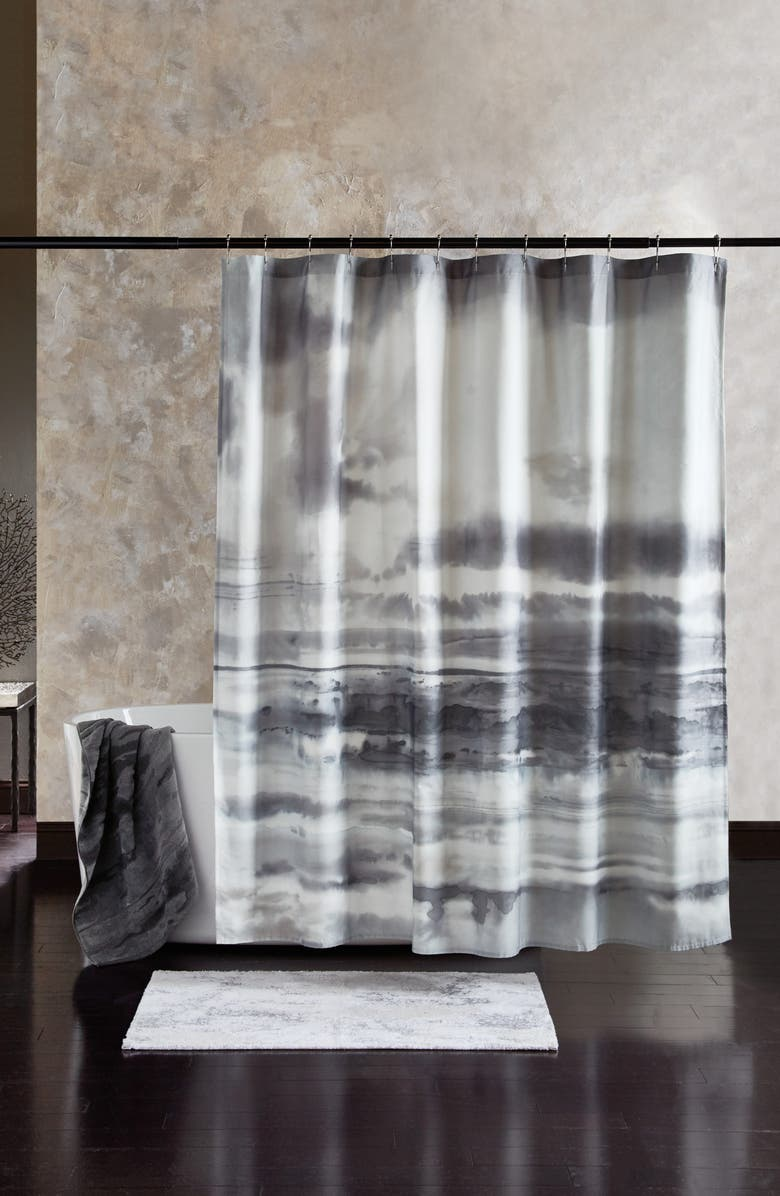 MICHAEL ARAM After the Storm Shower Curtain, Main, color, Grey