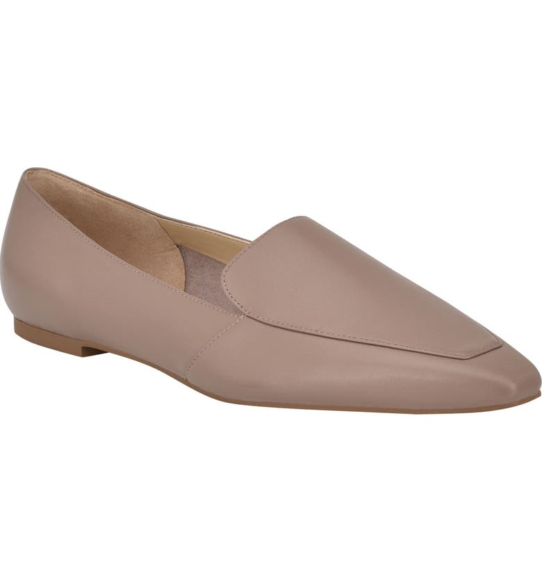 MARC FISHER LTD Enaba Square Toe Loafer, Main, color, TAUPE LEATHER