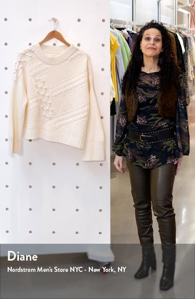 Cable Popcorn Oversize Wool & Cashmere Sweater, sales video thumbnail