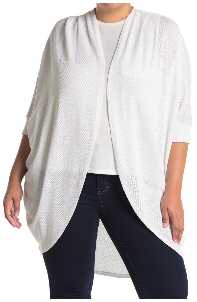 14TH AND UNION Lightweight Cocoon Cardigan, Main, color, WHITE