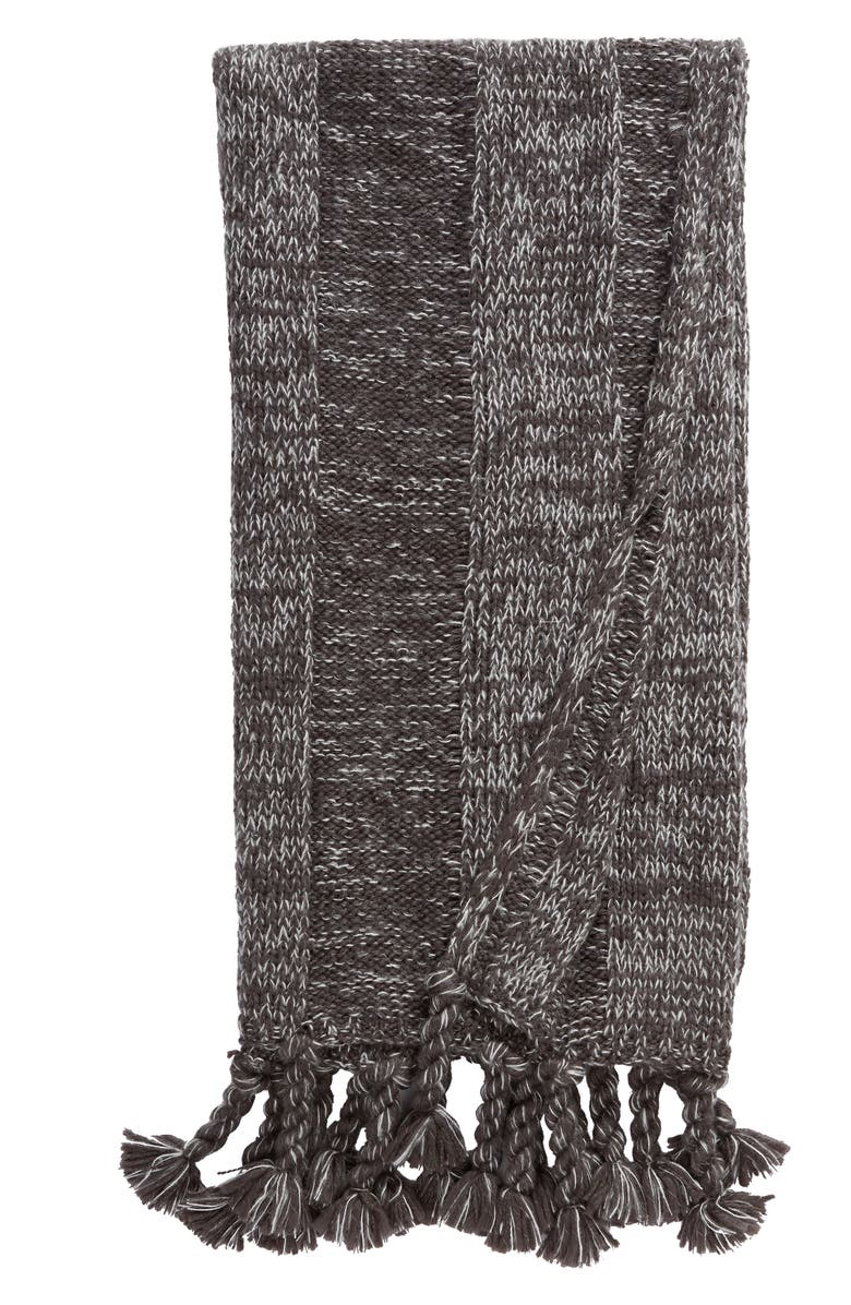 TREASURE & BOND Fringe Knit Throw, Main, color, 020