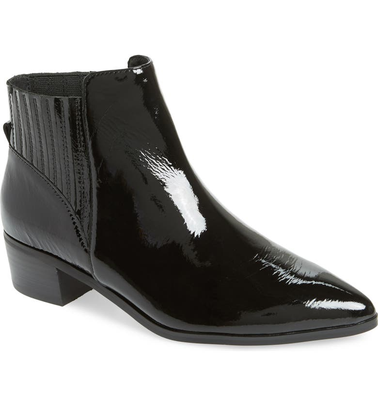 HALOGEN<SUP>®</SUP> Skylar Pointy Toe Bootie, Main, color, BLACK PATENT