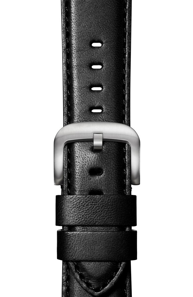 SHINOLA Rail Road Leather Apple Watch<sup>®</sup> Strap, Main, color, 003