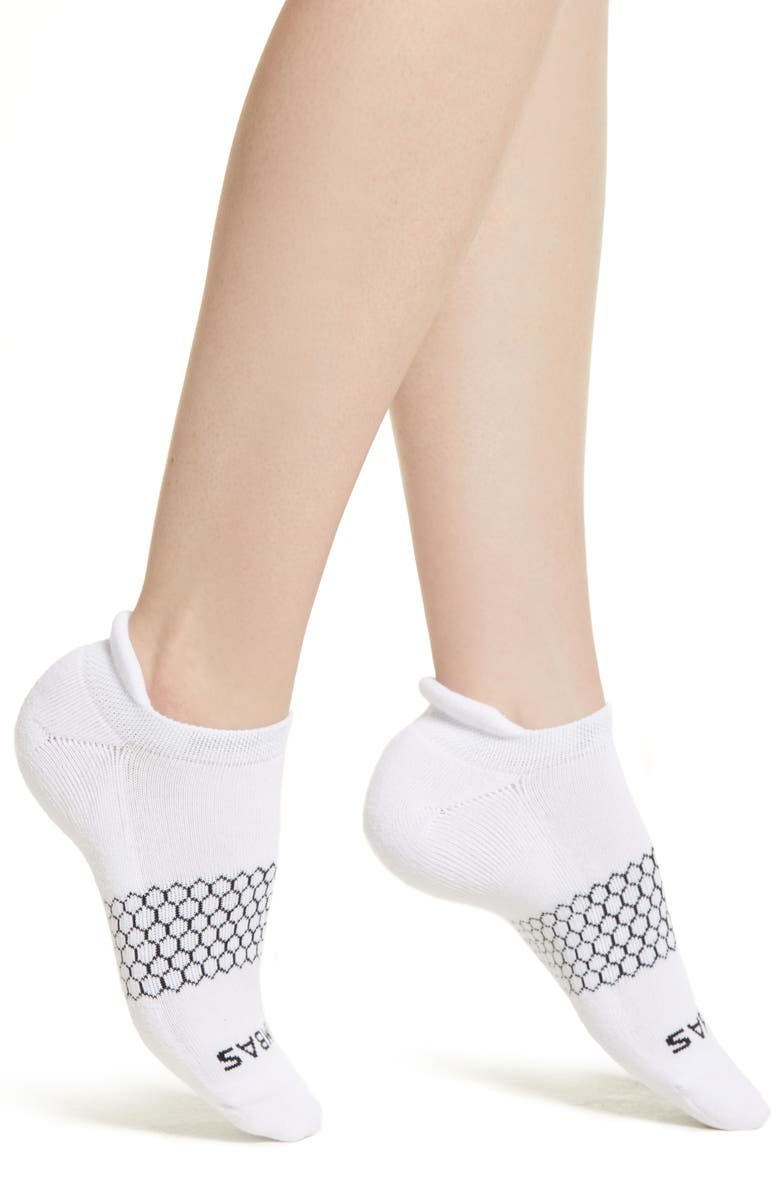 BOMBAS Solid Ankle Socks, Main, color, WHITE