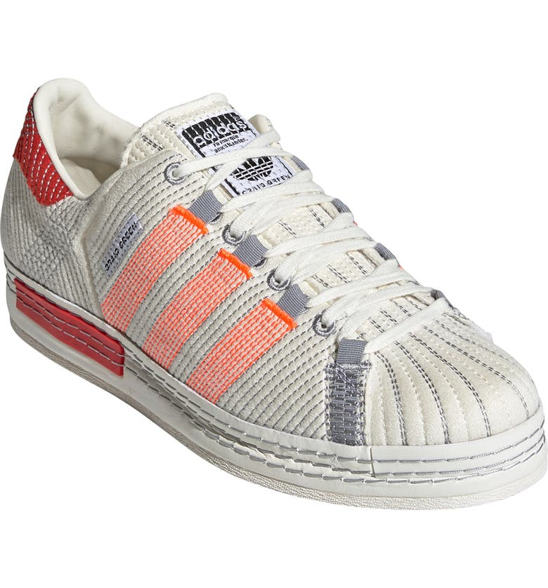 Y-3 Craig Green Superstar Sneaker, Main, color, OFF WHITE/ BRIGHT RED/ GREY