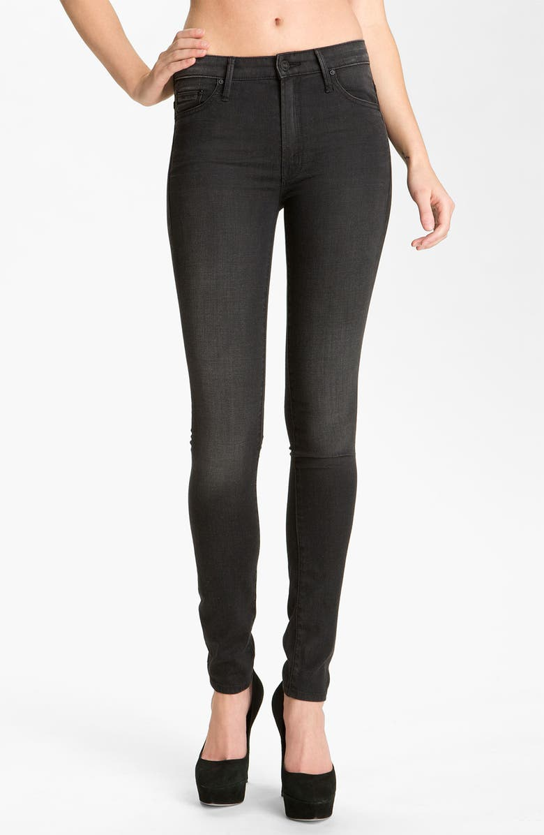 MOTHER 'The Looker' Skinny Stretch Jeans, Main, color, 001