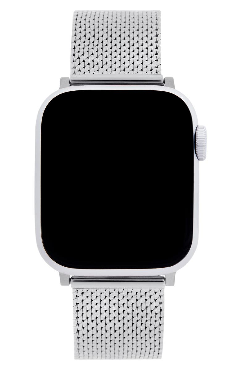 REBECCA MINKOFF Milanese Mesh Apple Watch<sup>®</sup> Bracelet, Main, color, SILVER