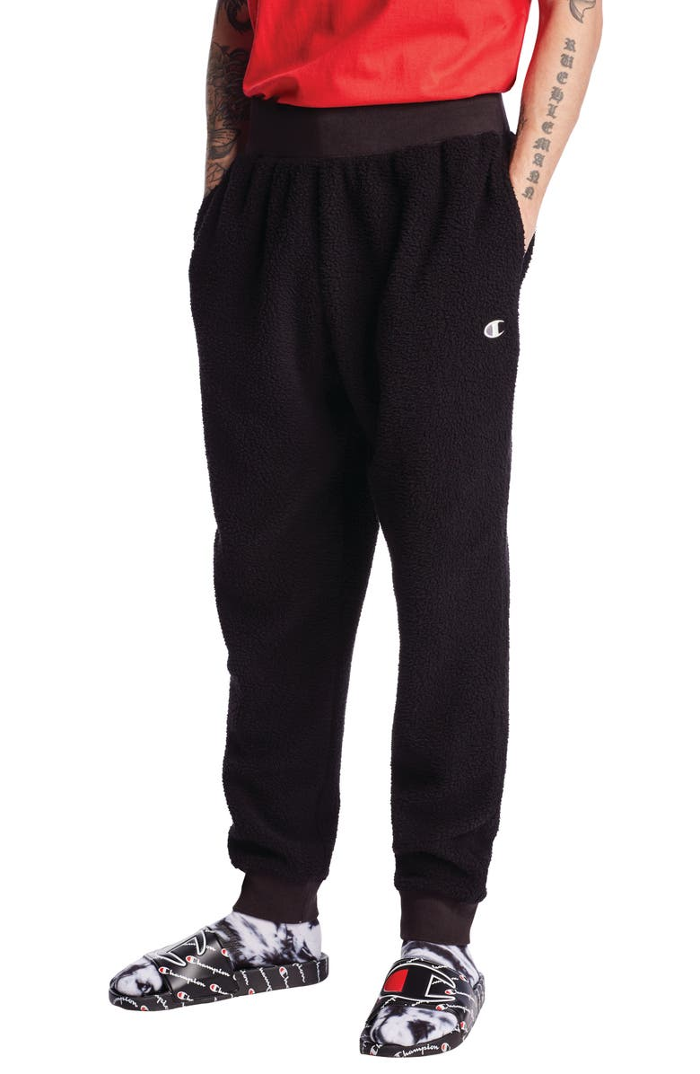 CHAMPION Fleece Sweatpants, Main, color, 001