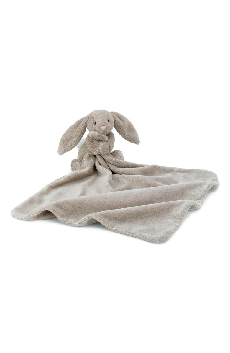 JELLYCAT Bunny Soother Blanket, Main, color, BEIGE