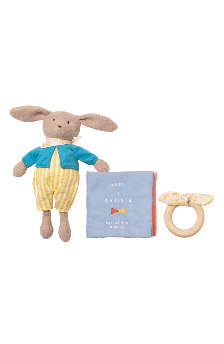 MANHATTAN TOY Day at the Museum Stuffed Animal, Fabric Book & Teether Set, Main, color, 250