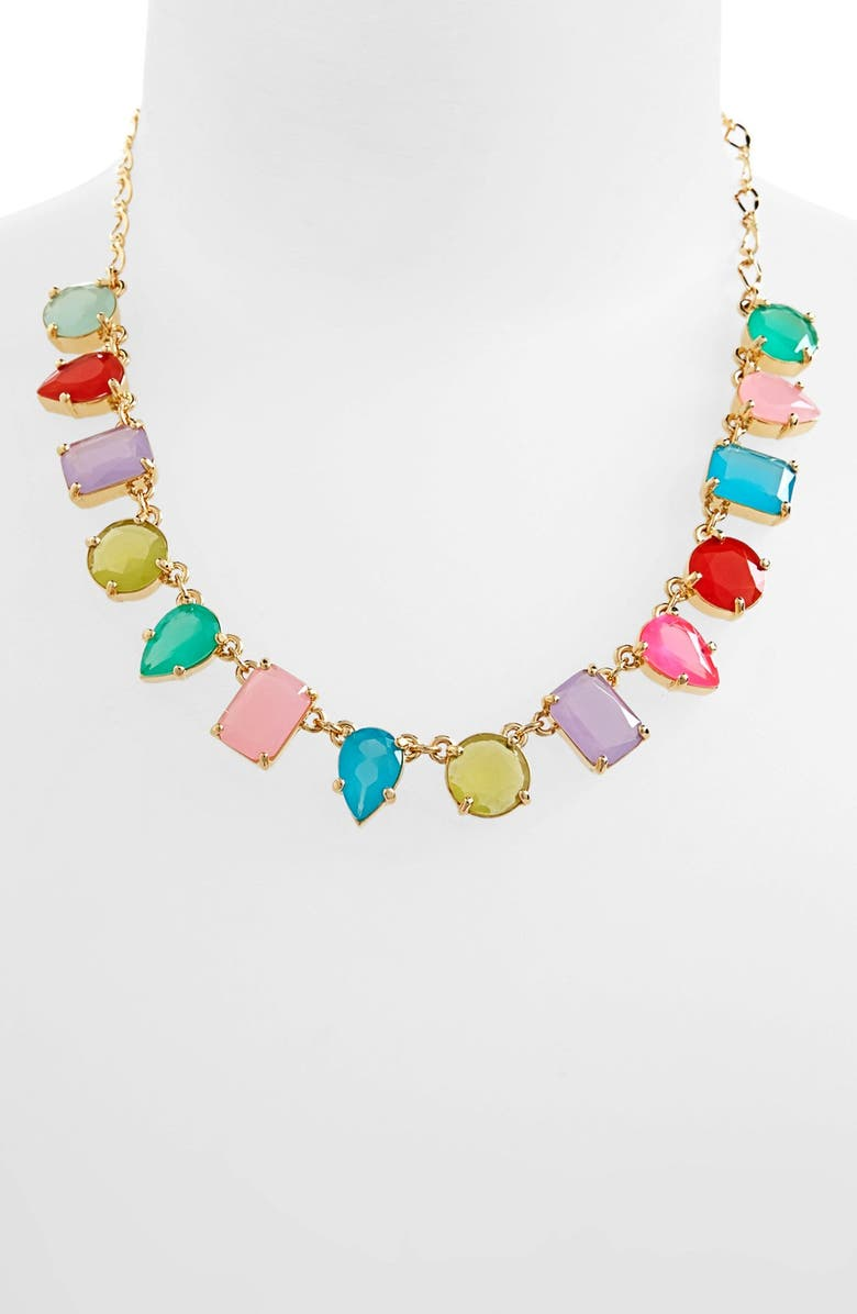 KATE SPADE NEW YORK 'gumdrop gems' stone frontal necklace, Main, color, 400