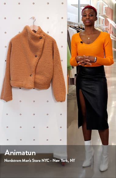 Izzy Wrap Teddy Coat, sales video thumbnail