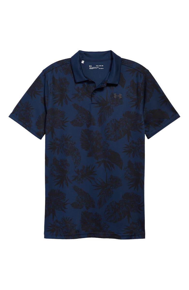 UNDER ARMOUR Kids' Floral Performance Polo, Main, color, 408