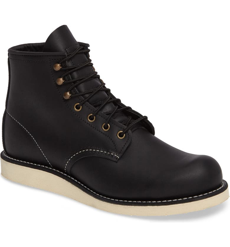 RED WING Rover Plain Toe Boot, Main, color, BLACK HARNESS LEATHER