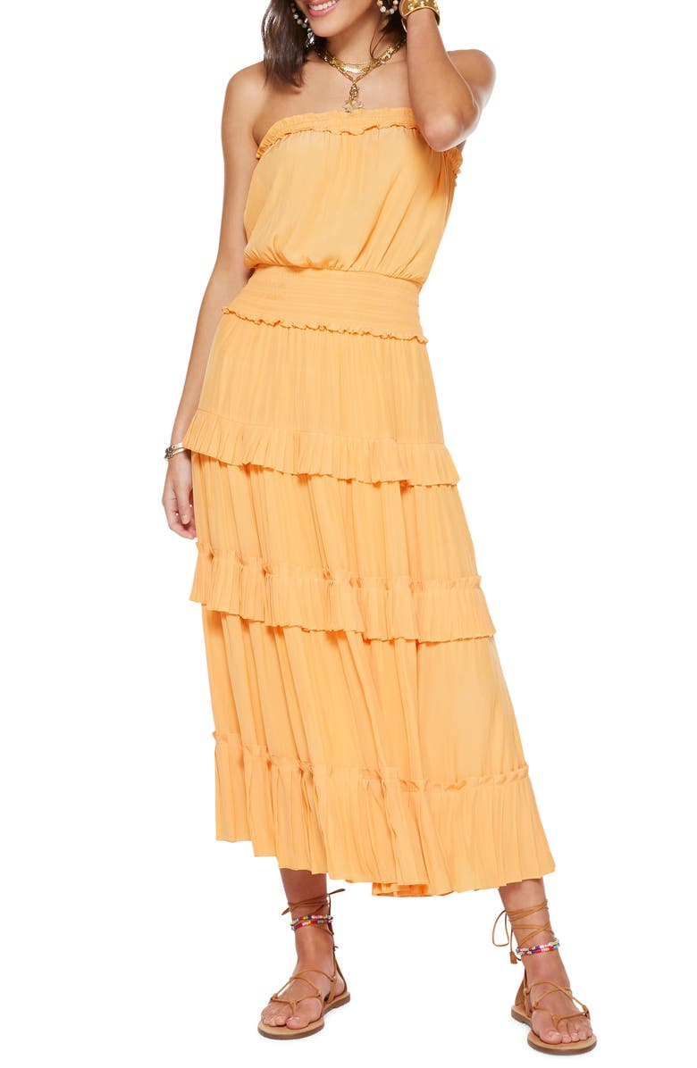 RAMY BROOK Natalie Bellini Strapless Maxi Dress, Main, color, BELLINI