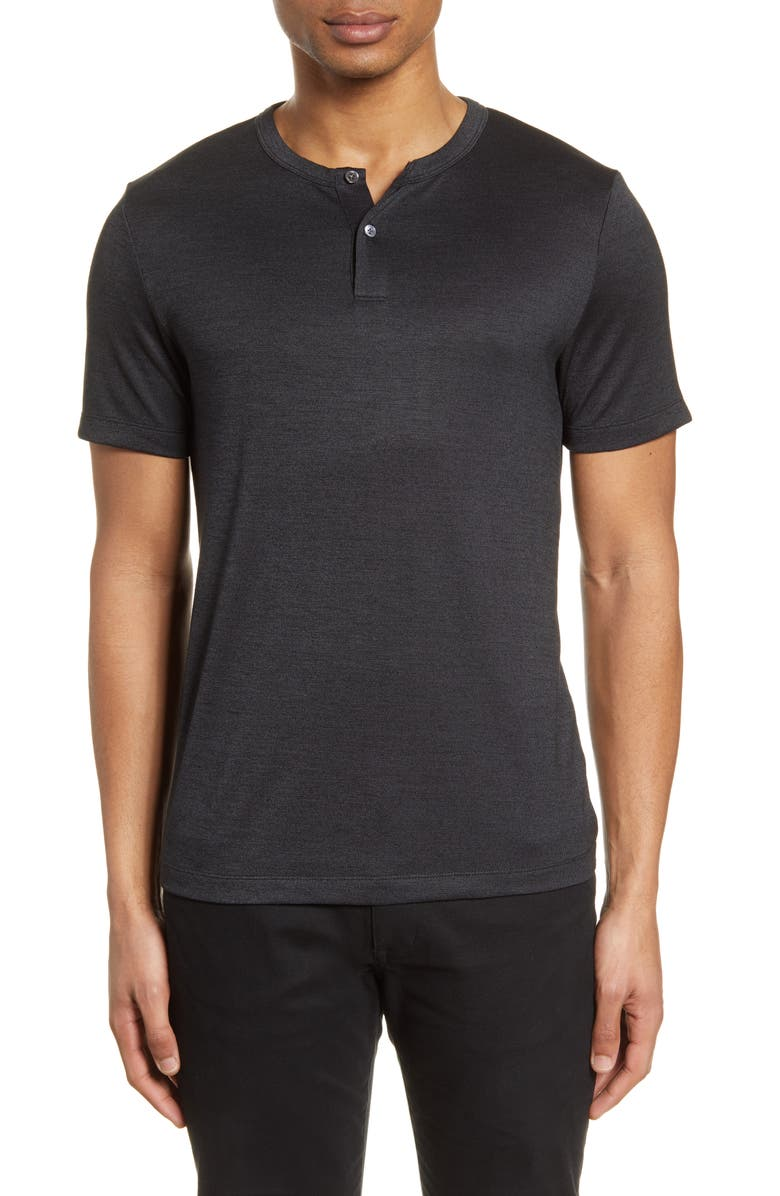 THEORY Gaskell Slim Fit Short Sleeve Henley, Main, color, 008